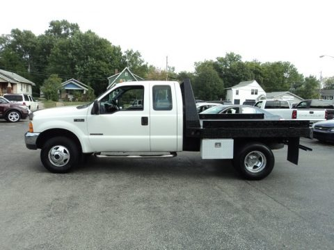 1999 Ford F350 Super Duty XLT SuperCab 4x4 Chassis Flat Bed Data, Info and Specs
