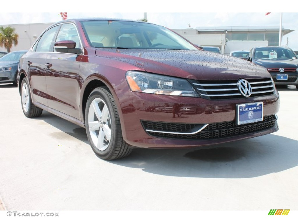 2014 Passat 2.5L SE - Opera Red Metallic / Cornsilk Beige photo #1