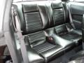 2010 Ford Mustang Charcoal Black Interior Rear Seat Photo