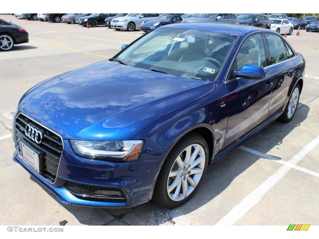 scuba blue metallic 2014 audi a4 2 0t quattro sedan exterior photo 85676411. Black Bedroom Furniture Sets. Home Design Ideas