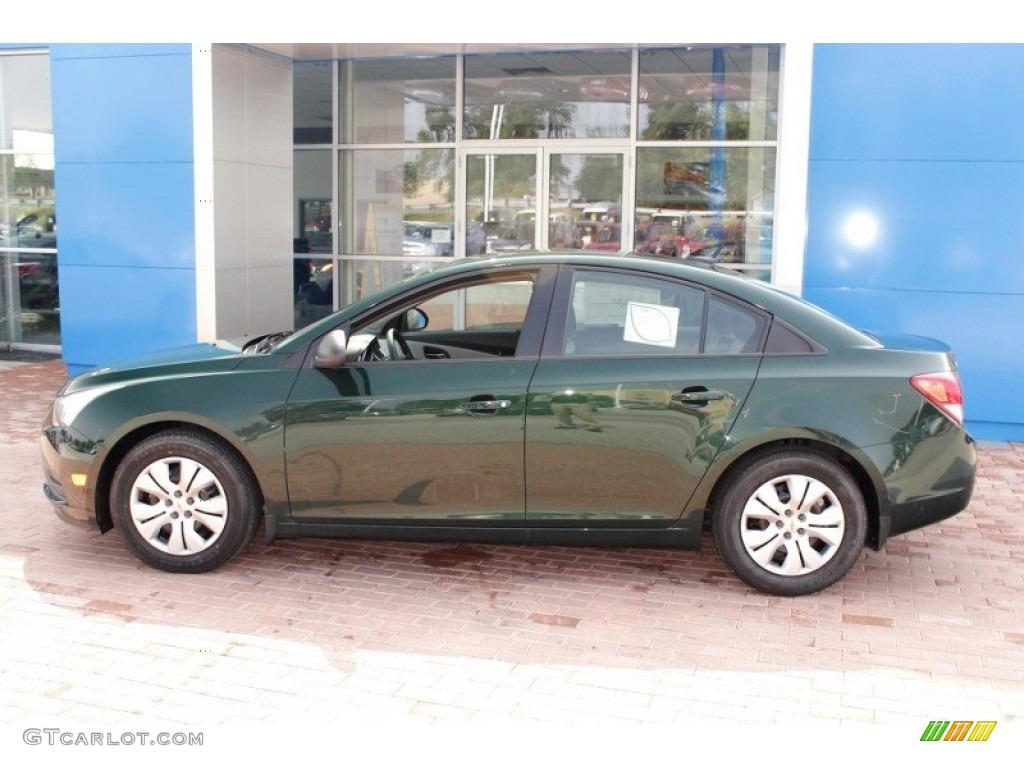 Rainforest Green Metallic 2014 Chevrolet Cruze Ls Exterior Photo 85693049