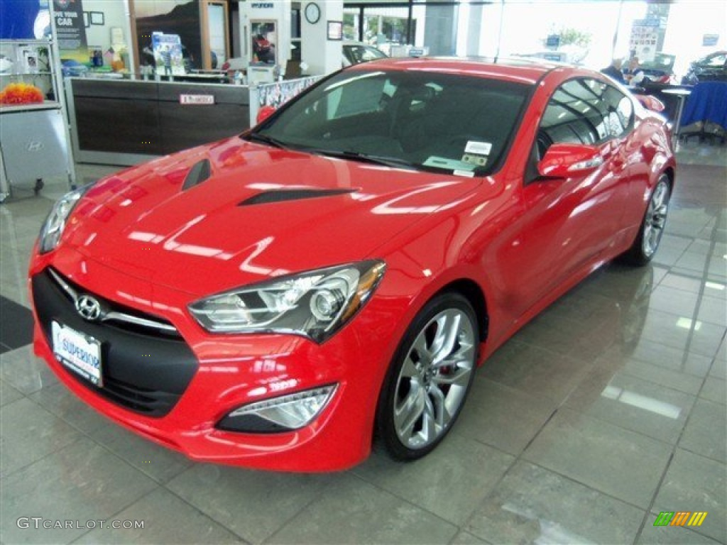 2013 Genesis Coupe 3.8 Grand Touring - Tsukuba Red / Black Leather photo #1