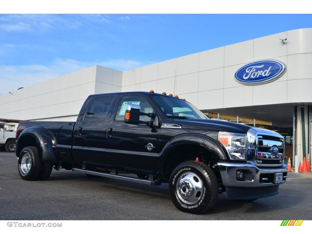 2014 f350 super duty lariat crew cab 4x4 dually tuxedo black metallic adobe photo