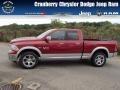 Deep Cherry Red Crystal Pearl 2014 Ram 1500 Laramie Quad Cab 4x4