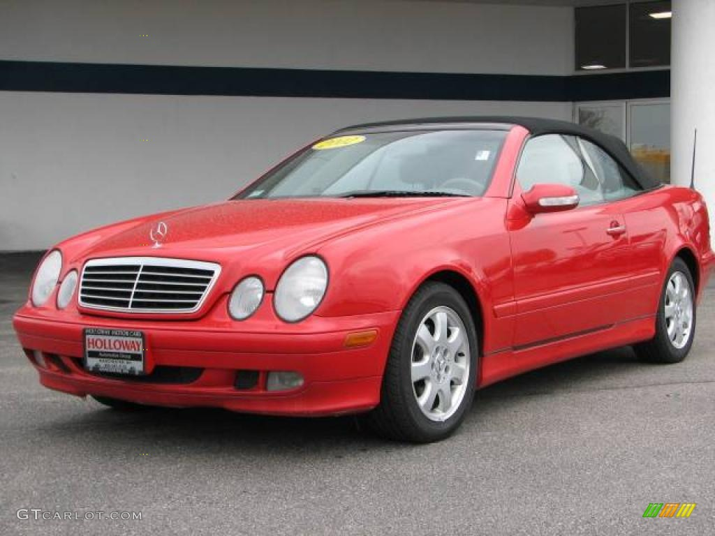 2002 Magma Red Mercedes Benz Clk 320 Cabriolet 8540380