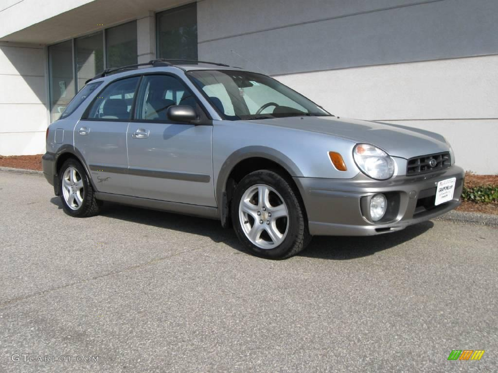 2002 platinum silver metallic subaru impreza outback sport. Black Bedroom Furniture Sets. Home Design Ideas