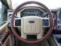 2014 Ford F250 Super Duty King Ranch Chaparral Leather/Adobe Trim Interior Steering Wheel Photo