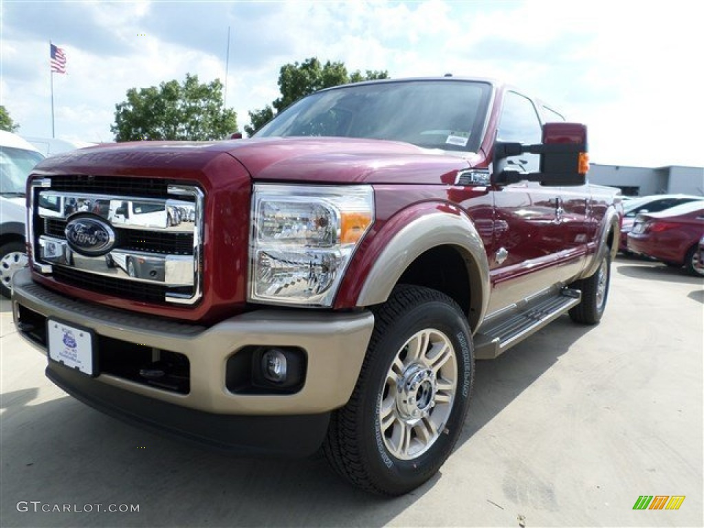2014 Ford F250 Super Duty King Ranch Crew Cab 4x4 - Ruby Red Metallic