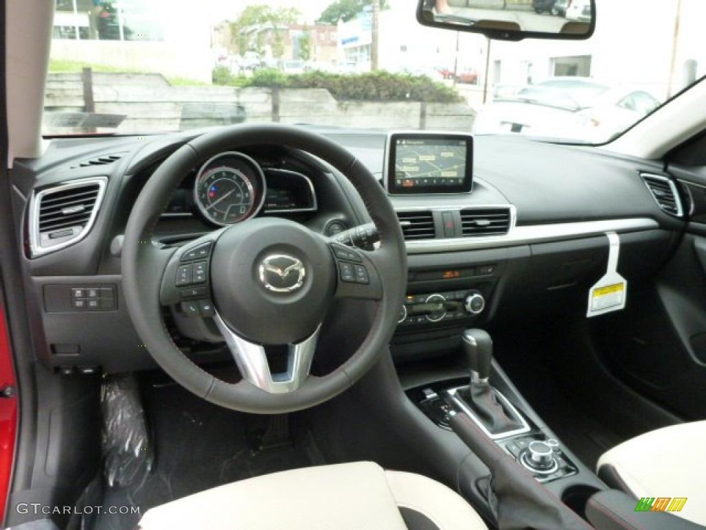 Almond Leather Interior 2014 Mazda MAZDA3 s Grand Touring ...