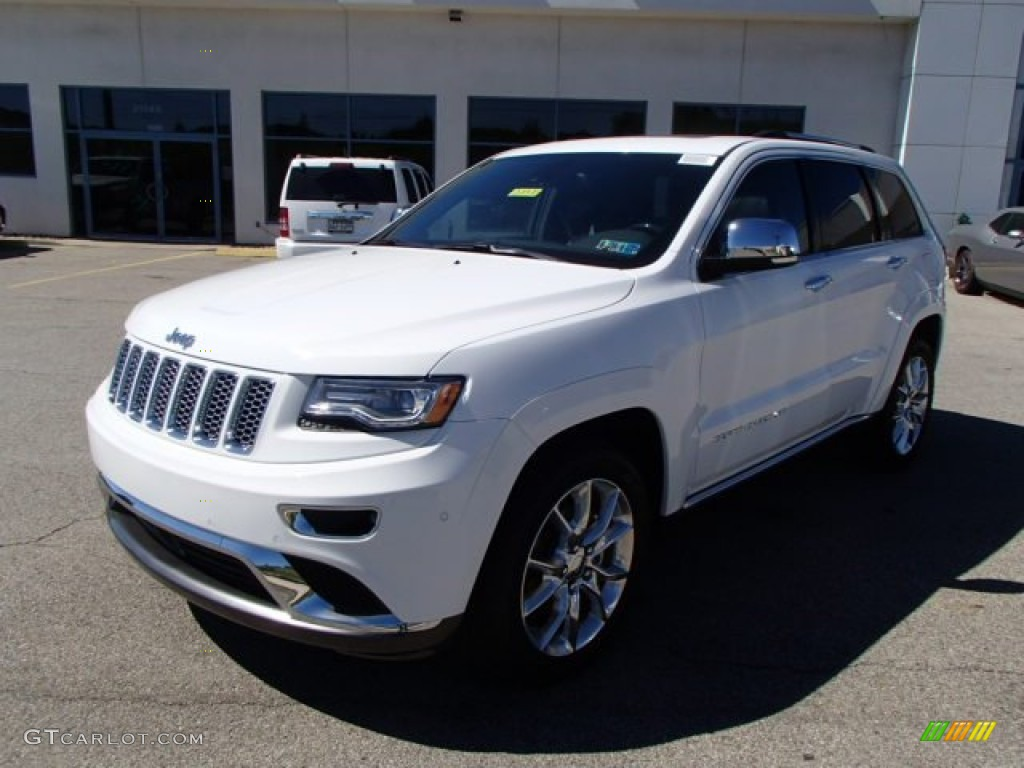 bright white 2014 jeep grand cherokee summit 4x4 exterior photo 85832752. Black Bedroom Furniture Sets. Home Design Ideas