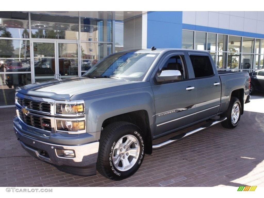 blue granite metallic 2014 chevrolet silverado 1500 ltz z71 crew cab 4x4 exterior photo. Black Bedroom Furniture Sets. Home Design Ideas