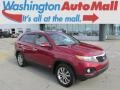 2011 Spicy Red Kia Sorento EX V6 AWD  photo #1