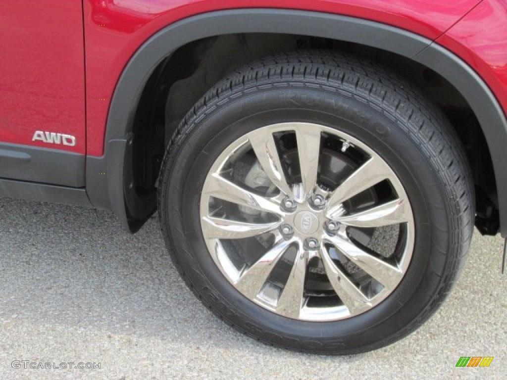 2011 Sorento EX V6 AWD - Spicy Red / Beige photo #3