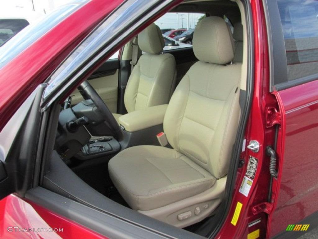 2011 Sorento EX V6 AWD - Spicy Red / Beige photo #9