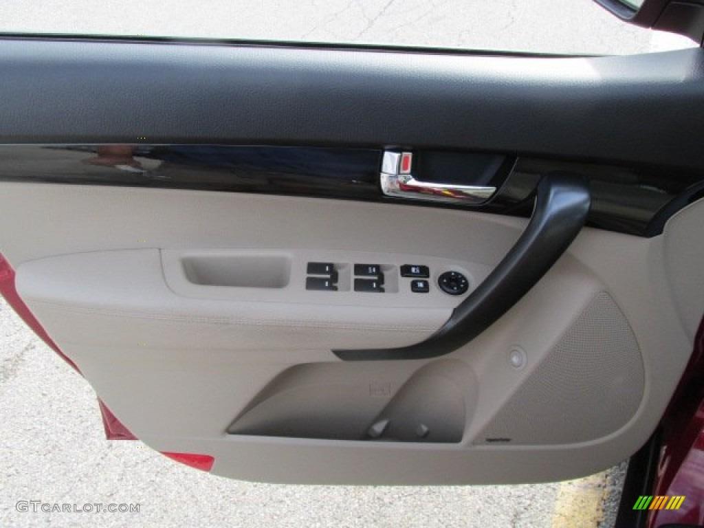 2011 Sorento EX V6 AWD - Spicy Red / Beige photo #10