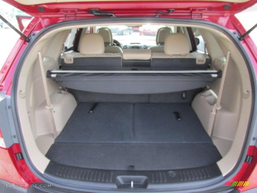 2011 Sorento EX V6 AWD - Spicy Red / Beige photo #18
