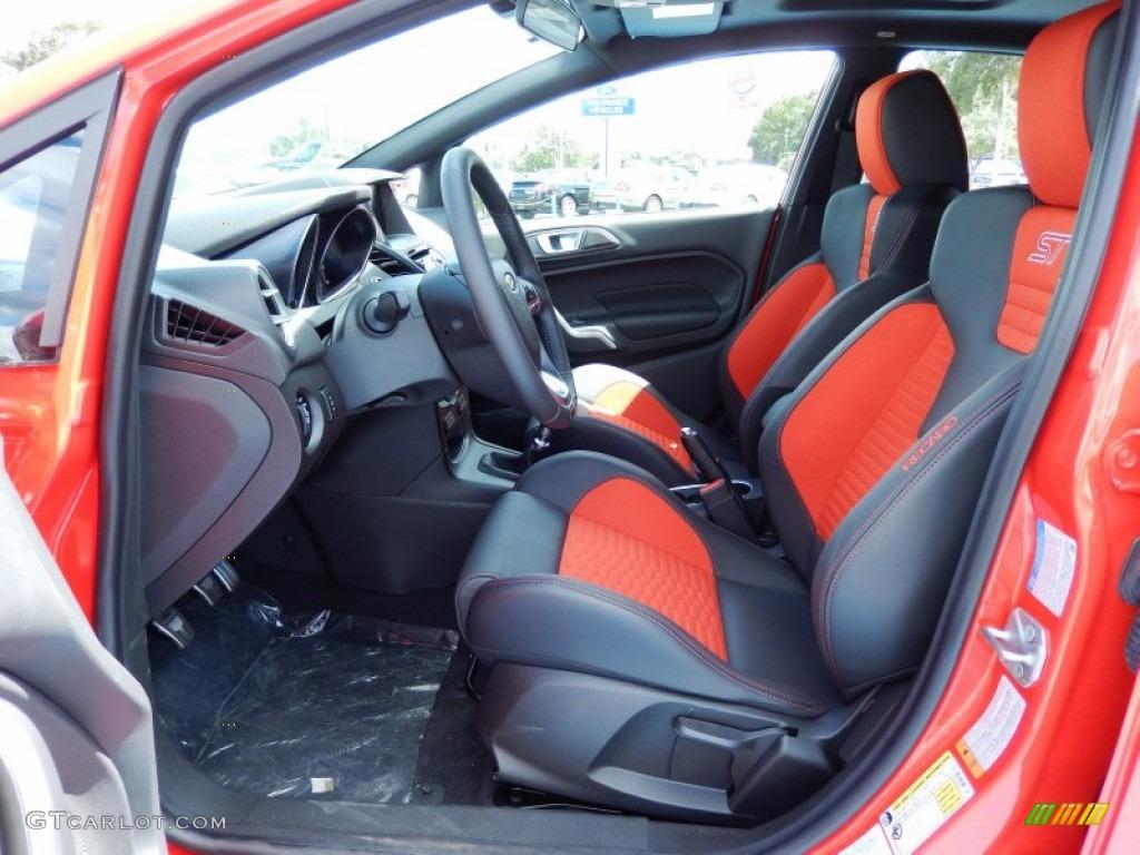 St Recaro Molten Orange Interior 2014 Ford Fiesta St Hatchback Photo 85872679