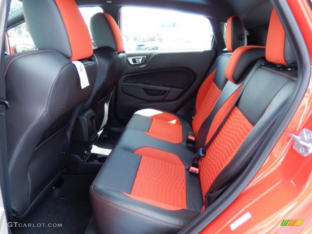 ST Recaro Molten Orange Interior 2014 Ford Fiesta ST Hatchback Photo  #85872706
