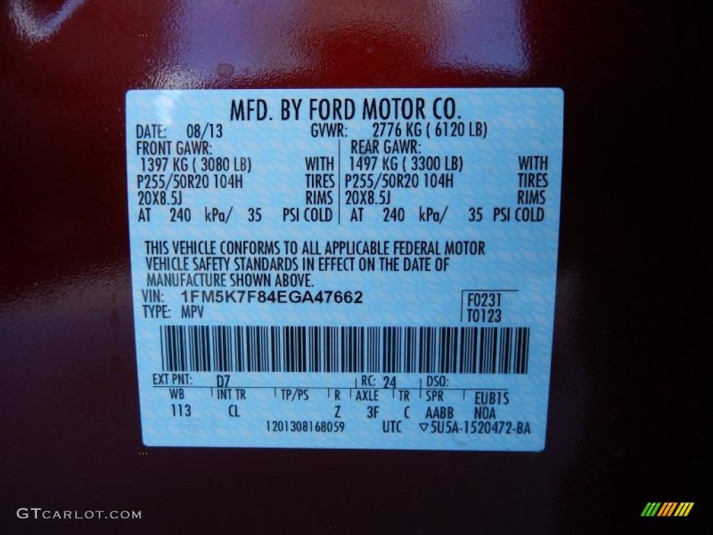 2014 Ford Explorer Limited Color Code Photos Gtcarlot Com