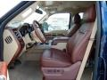 2014 Ford F250 Super Duty King Ranch Chaparral Leather/Adobe Trim Interior Front Seat Photo