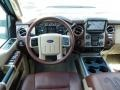 2014 Ford F250 Super Duty King Ranch Chaparral Leather/Adobe Trim Interior Dashboard Photo
