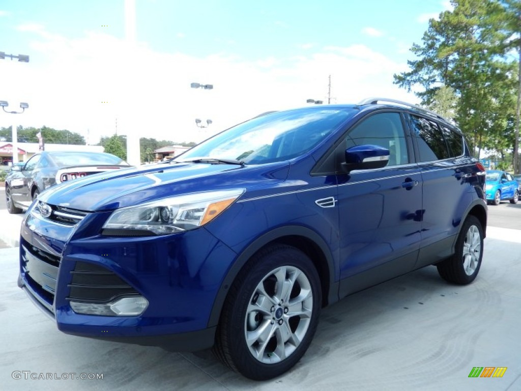 2014 Escape Titanium 1.6L EcoBoost - Deep Impact Blue / Medium Light Stone photo #1