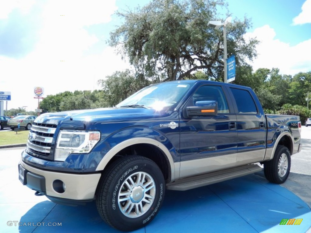 2013 blue jeans metallic ford f150 king ranch supercrew 4x4 85854117 car color. Black Bedroom Furniture Sets. Home Design Ideas