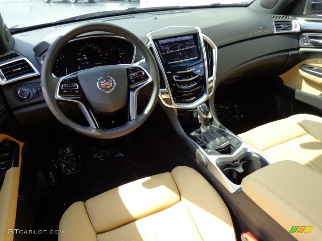 Caramel Ebony Interior 2014 Cadillac Srx Luxury Awd Photo