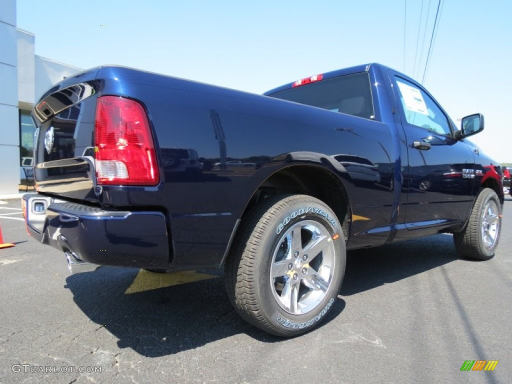 True Blue Paint Color 2014 True Blue Pearl Coat Ram 1500 Express Regular Cab 85907516
