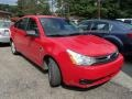 Vermillion Red 2008 Ford Focus SE Sedan