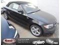 Jet Black 2013 BMW 1 Series 128i Convertible