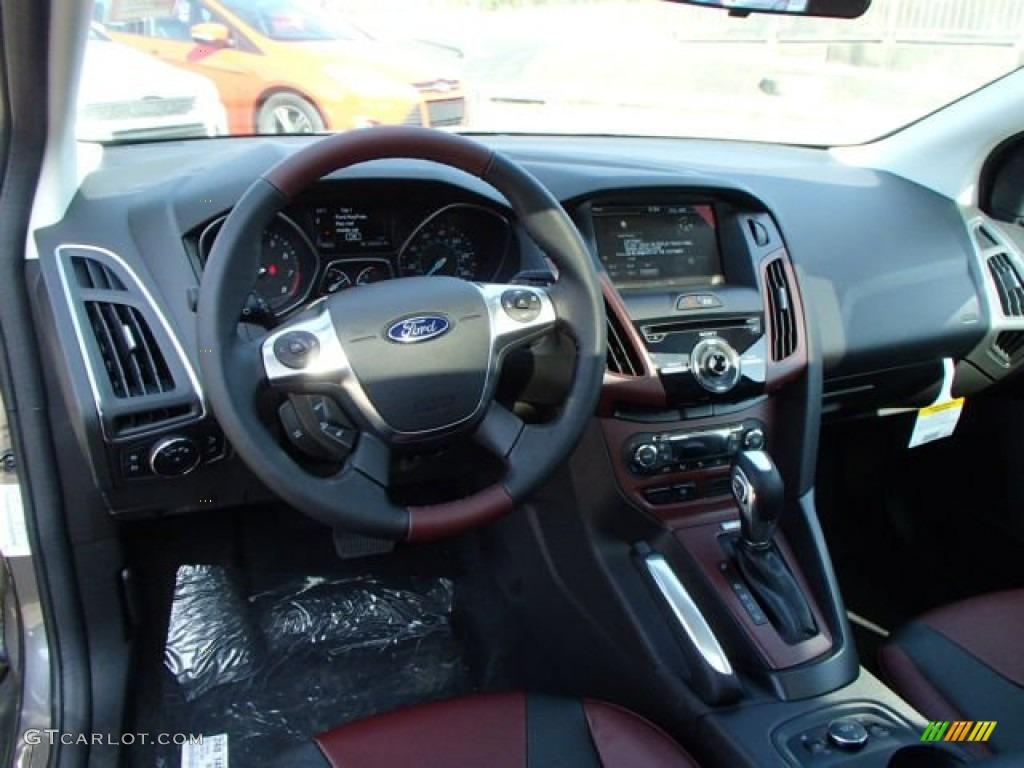 2014 ford focus titanium hatchback tuscany red dashboard photo 85946304 - Ford Focus 2014 Hatchback White