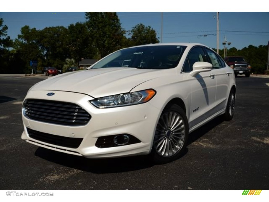 Oxford White Ford Fusion 2017 >> 2014 White Platinum Ford Fusion Hybrid Titanium #85907694 | GTCarLot.com - Car Color Galleries