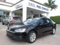 Black 2011 Volkswagen Jetta SE Sedan