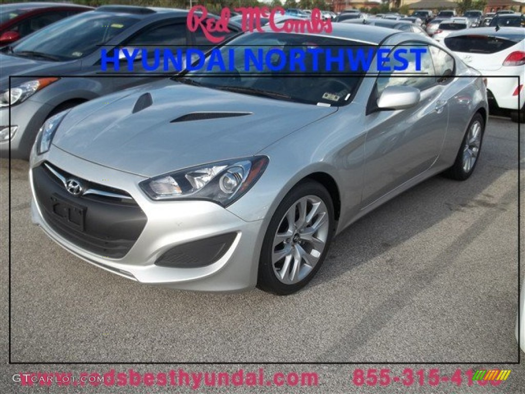 2013 Genesis Coupe 2.0T - Circuit Silver / Black Cloth photo #1