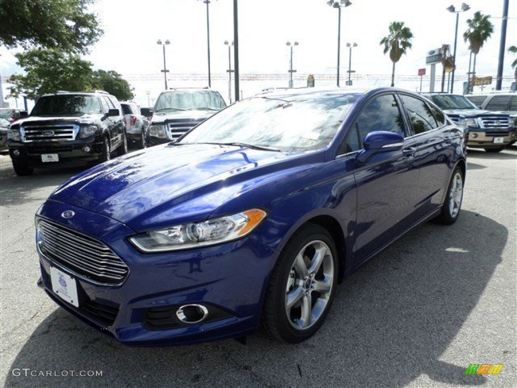 2014 Deep Impact Blue Ford Fusion Se 86030966 Gtcarlot Com Car Color Galleries