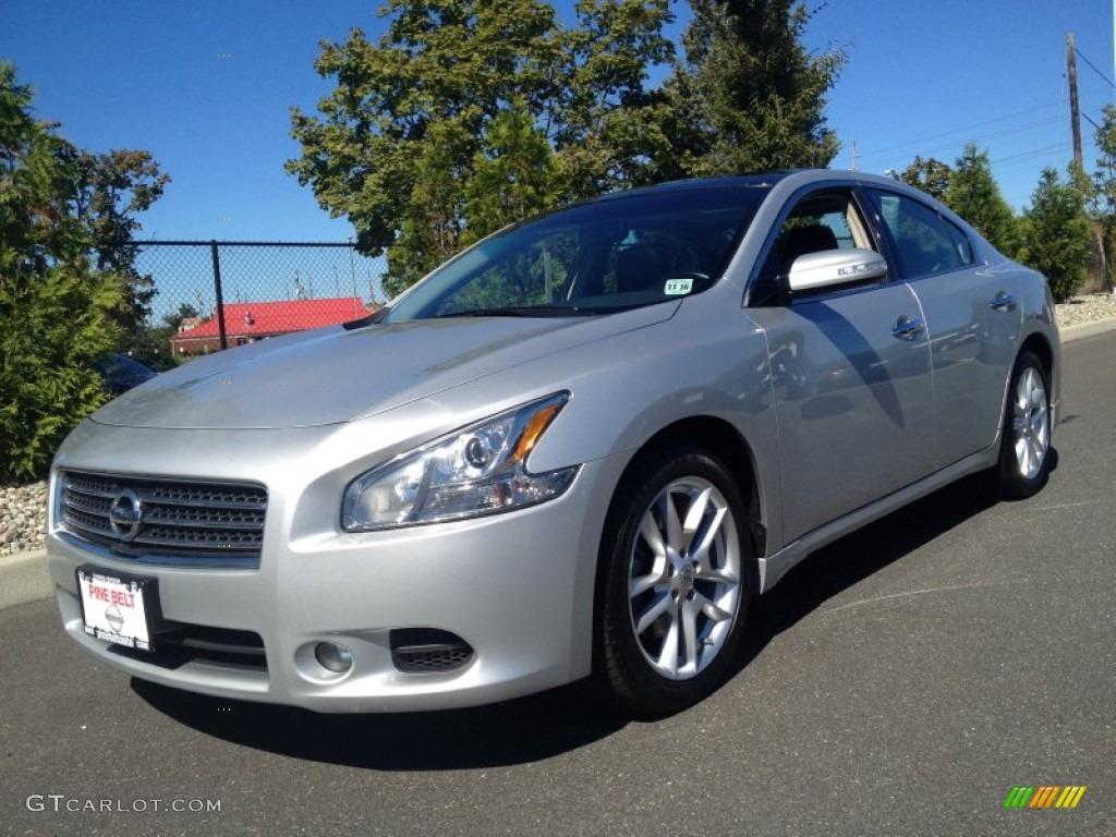 2011 Brilliant Silver Nissan Maxima 3 5 Sv Premium