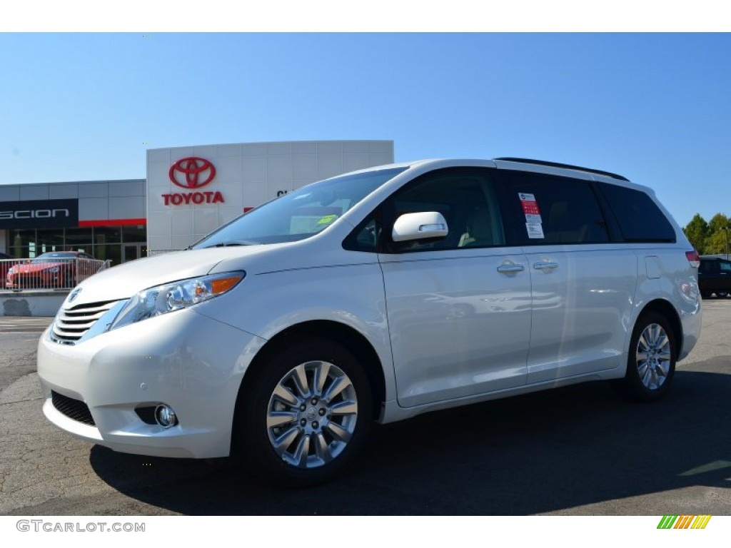 2014 blizzard white pearl toyota sienna limited awd 86069151 car color galleries. Black Bedroom Furniture Sets. Home Design Ideas