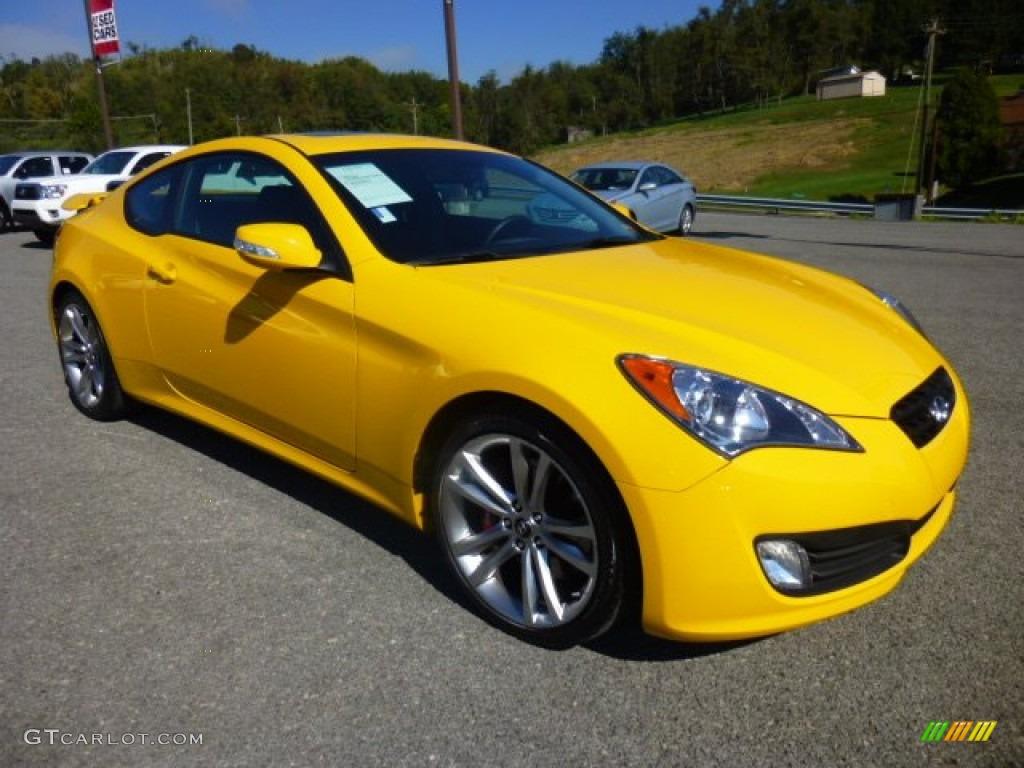 2012 interlagos yellow hyundai genesis coupe 3 8 track 86116558 car color. Black Bedroom Furniture Sets. Home Design Ideas