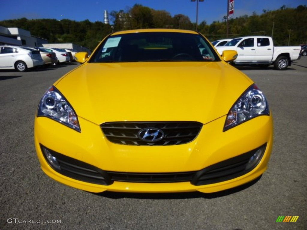 2012 interlagos yellow hyundai genesis coupe 3 8 track 86116558 photo 2 car. Black Bedroom Furniture Sets. Home Design Ideas