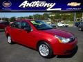 Sangria Red Metallic 2009 Ford Focus SE Sedan