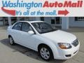 Clear White 2009 Kia Spectra EX Sedan