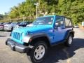 2011 Cosmos Blue Jeep Wrangler Sport S 4x4  photo #1