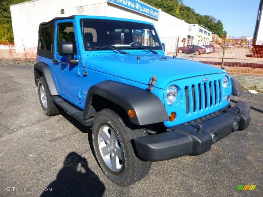2011 Wrangler Sport S 4x4 - Cosmos Blue / Black photo #7