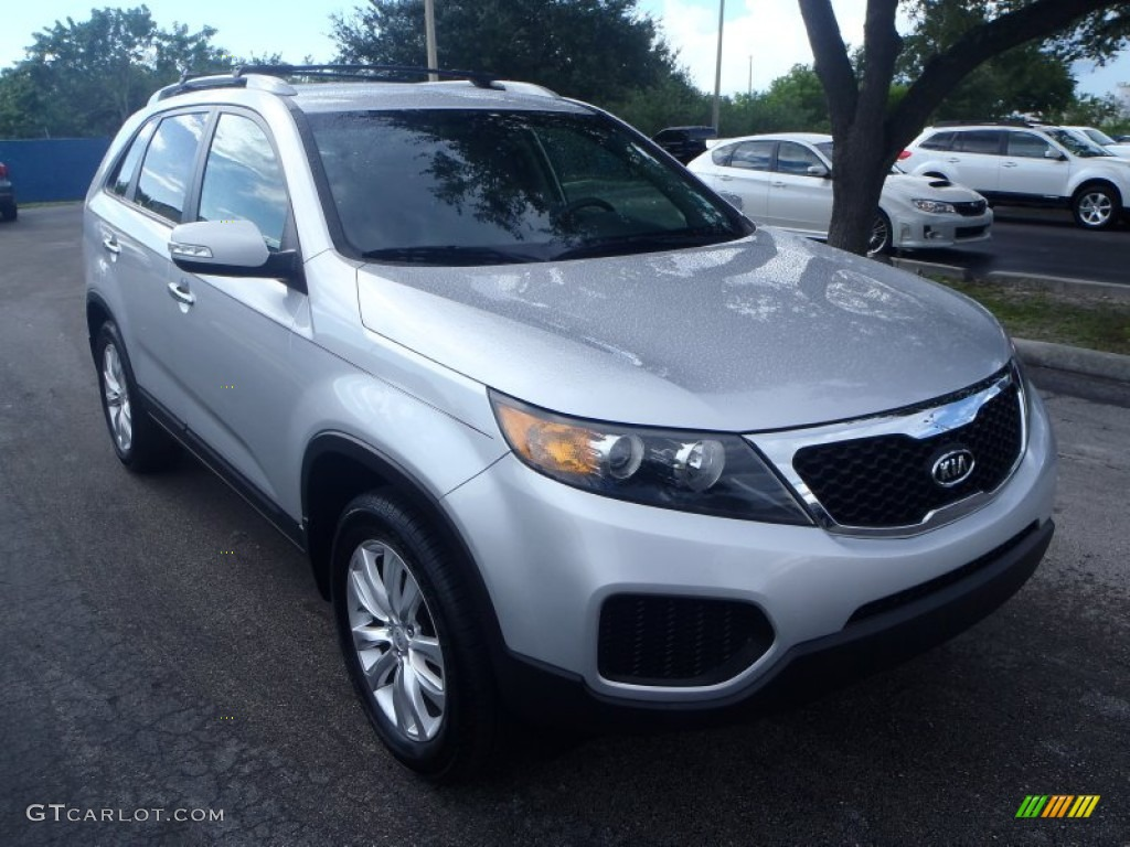 2011 Sorento LX V6 - Bright Silver / Gray photo #1