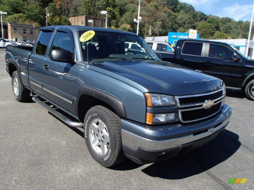 Blue Granite Metallic 2006 Chevrolet Silverado 1500 Z71 Extended Cab 4x4 Exterior Photo #86180369