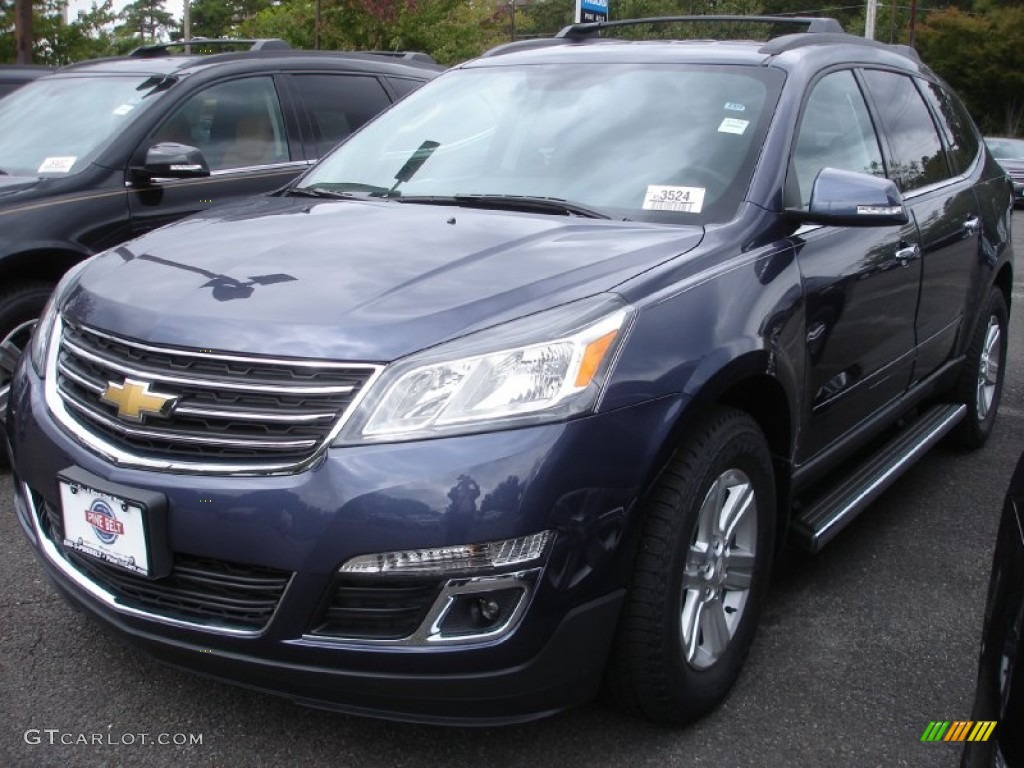 2014 atlantis blue metallic chevrolet traverse lt awd 86206485 car color galleries. Black Bedroom Furniture Sets. Home Design Ideas