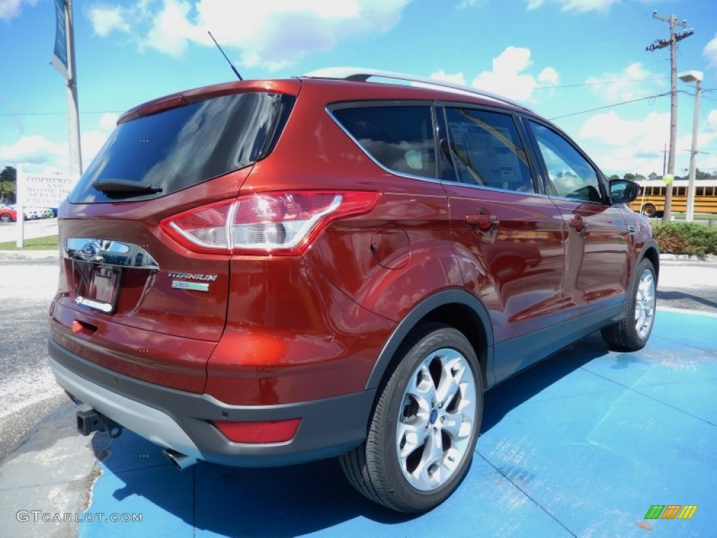 2014 Escape Titanium 2.0L EcoBoost - Sunset / Medium Light Stone photo #3