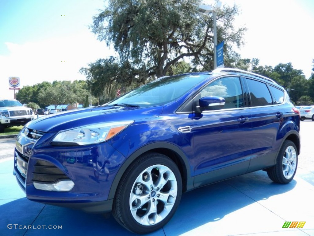 2014 Escape Titanium 2.0L EcoBoost - Deep Impact Blue / Medium Light Stone photo #1