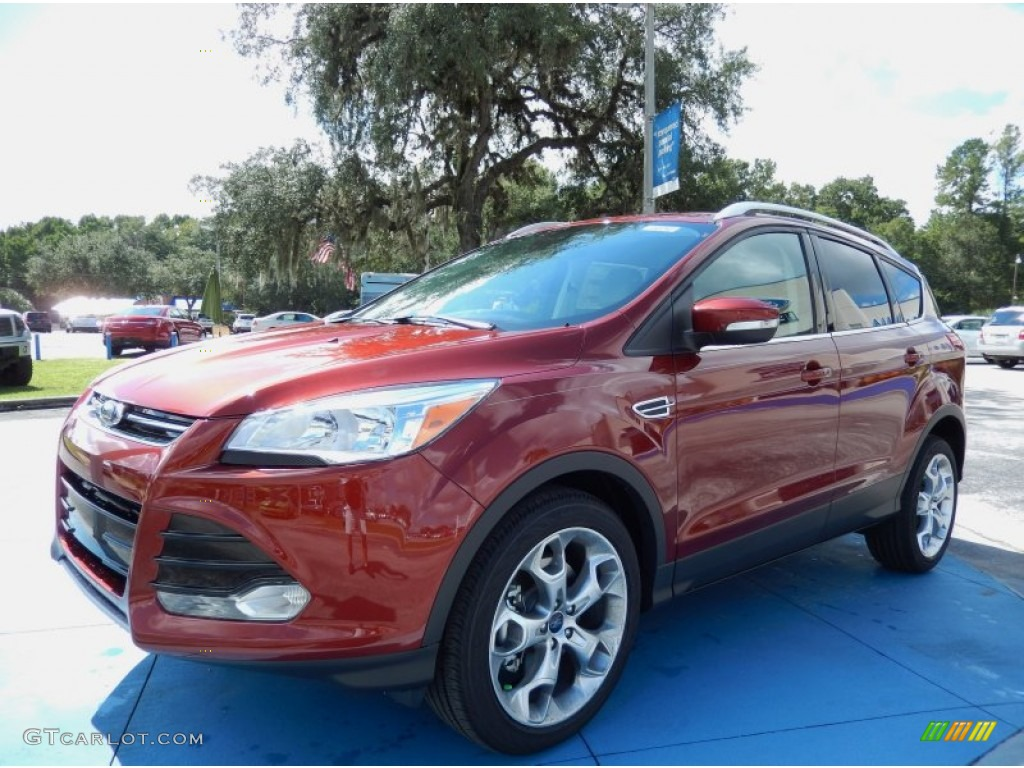2014 Escape Titanium 2.0L EcoBoost - Sunset / Medium Light Stone photo #1